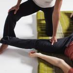 deep stretching in thai massage